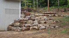 rock retaining wall - Google Search