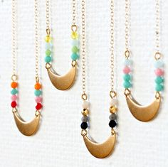 Little Half Moon Necklace by Nest Pretty Things
