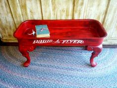 Take a close look at our DIY Repurposed Old Wagons That Will Give A Unique Accent and share your impressions with us. Refurbished Furniture, Repurposed Furniture, Furniture Makeover, Painted Furniture, Chair Makeover, Furniture Projects, Diy Furniture, Studio Furniture, Furniture Websites