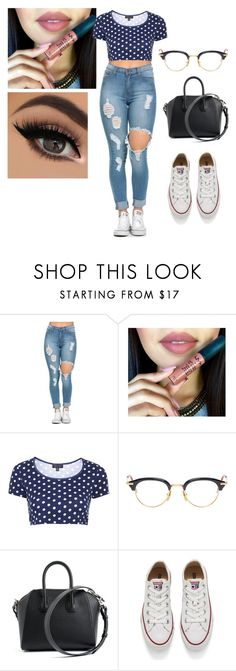 """casual#2"" by alexandrakeh on Polyvore featuring beauty, Topshop, Thom Browne, Givenchy and Converse"