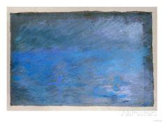 Waterloo Bridge, Brouillard, Pastel on Blue Paper 1901 Prints by Edgar Degas at AllPosters.com
