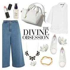 """""""divine obsession"""" by raniaghifaraa ❤ liked on Polyvore featuring Fendi, McQ by Alexander McQueen, Vera Wang, Charlotte Russe, Sigma Beauty, H&M, Olivine, Gorjana, fashionset and polyvoreeditorial"""