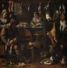 Italiaanse school (Bologna?), 16e eeuw - Kitchen scene, 1590 - 1600. Museum Boijmans Van Beuningen, Rotterdam