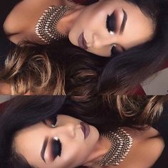 """#TB to this smokey look I did a while ago  Lips @maccosmetics ""Stone"" Eyes @meltcosmetics ""Dark matter Stack""  - GlambyLupe"
