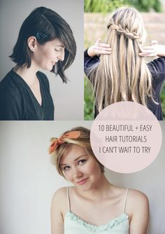 10 gorgeous hair tutorials!