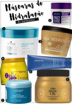 Máscara de hidratação para cabelos: as minhas preferidas! Tem máscara de hidratação para todos os tipos de cabelo, e todas são maravilhosas!