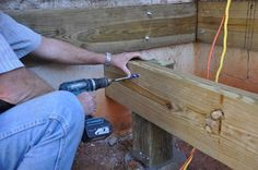 Learn How To Install A Notched Wood Support Post To
