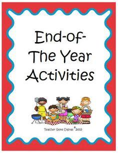 Teacher Gone Digital: End of the Year Ideas - Freebie!