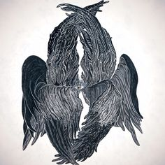 "Графика ""Серафим"". Graphic 'Seraphim' by pencil"