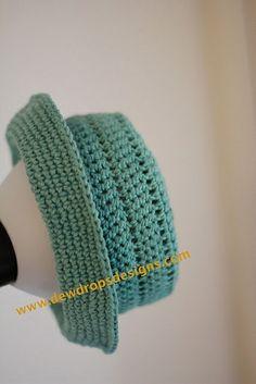 Free Crochet Hat with brim Pattern.
