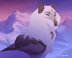 Commission - Ori by Naviira Anime Wolf Drawing, Furry Drawing, Anime Art, Cute Fantasy Creatures, Mythical Creatures Art, Fantasy Wolf, Fantasy Art, Art Wolfe, Cartoon Wolf