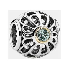 PANDORA 'Vintage' Charm (5.500 RUB) ❤ liked on Polyvore featuring jewelry, pendants, beading charms, vintage jewellery, 14 karat gold charms, pandora jewellery and floral jewelry