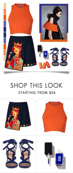 """""""I'm the Queen"""" by susy-v ❤ liked on Polyvore featuring WithChic, Sydney-Davies, Gianvito Rossi, fashionset and susyset"""