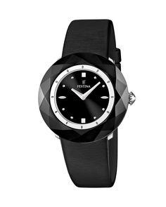 Ρολόι FESTINA Black Leather F16620/4