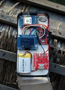 Build your own Arduino GPS in an iPhone case http://www.instructables.com/id/Arduino-GPS-in-iPhone-Case-build-your-own-/