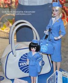 Pan Am bags were crazy popular for little girls... and their Barbie Dolls.