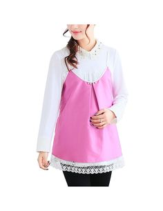 Anti-Radiation Maternity Clothes Top Baby Mom Protection Shield Bilayer Camisole Dresses Blue L - Yesfashion.com in Free Shipping