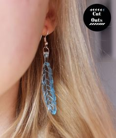 Feather earrings by CutOutsProductDesign on Etsy