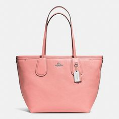 NWT Coach Taxi Pink Crossgrain Leather Baby Diaper Bag Tote New 34522  ($495) #Coach #Shoulder
