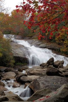 Lower Falls at Graveyard Fields on the Blue Ridge Parkway in North Carolina