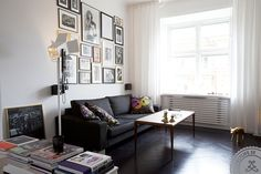 Living room - framed posters and photos