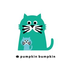 Cat, pumpkin bumpkin #illustration #painting #drawing #art #design