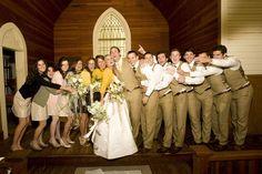 wedding party hug!