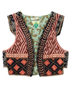 GYPSY SOUL - Style her bohemian look to the max and pair this designer's favourite with a colourful skirt and playful tee. http://webstore-all.scotch-soda.com/girls/blazers-%26-gilets/gilets/patchwork-gilet/14510233401.html?dwvar_14510233401_color=dessin%20A