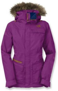 87ee759da7 Don t see this purple very often. Cute hood too. North Face Winter