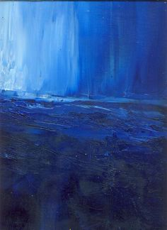 Abstract ocean painting modern seascape marems by LaurenMarems, $200.00