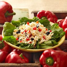 Warm Quinoa and Chickpea Salad #recipe