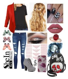 """""""#875"""" by splendoraviolet ❤ liked on Polyvore featuring J Brand, ASOS, Kate Spade, Danielle Nicole, Allurez and Lime Crime"""