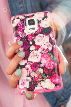 Although I don't own a Samsung Galaxy Note® 4, I would want this: Kate Spade new york Flexible Hardshell Case in Photographic Rose