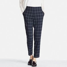 I own several pairs of these trousers with varying patterns and colors. They have a feature I love: a stretchy band in the back of the waist. They're also tight enough, but loose enough to wear with a really loose top or a fancy short top.
