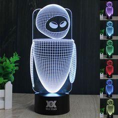 Wall-E 3D LED Lamp