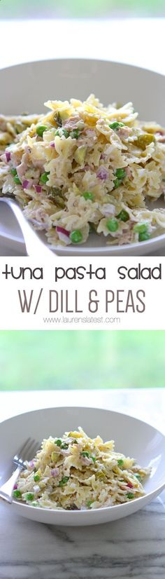 Tuna Pasta Salad with Dill and Peas... My kids absolutely loved this! Definitely making it again.