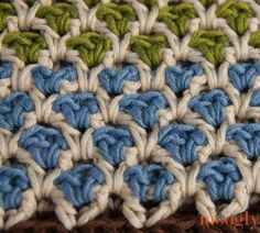 Crochet Moroccan Stitch - Tutorial ❥ 4U // hf