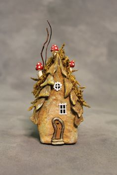 Crooked Door Fairy Willow Spirit House OOAK 4 1/2 by FairyWillow