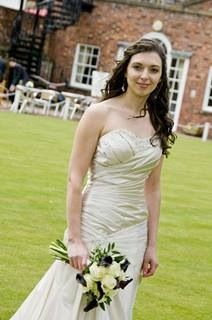 Gorgeous calla Lilly, avalanche rose and ruscus bridal bouquet at the Wynnstay hotel Oswestry