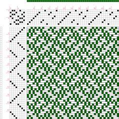 draft image: Figure 1115, A Handbook of Weaves by G. H. Oelsner, 8S, 8T