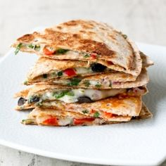 Quick, healthy, and delicious. This Greek take on quesadillas is a perfect weeknight meal.