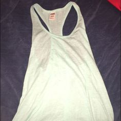 Victoria Secret Pink Blue/Turquoise Sleepwear Tank This item has only been worn once, however I am selling it due to the fact it is now too big for me to wear. So it is now looking for a new home. Like all other items in my closet this item comes from a smoke/pet free home. PINK Victoria's Secret Tops Tank Tops