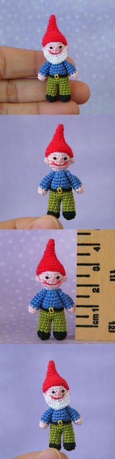Miniature Garden Gnome Amigurumi Pattern