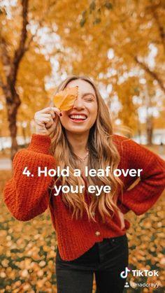 Artistic Fashion Photography, Film Photography Tips, Leaf Photography, Photography Challenge, Photography Poses Women, Autumn Photography, Creative Photography, Creative Photoshoot Ideas, Creative Instagram Photo Ideas
