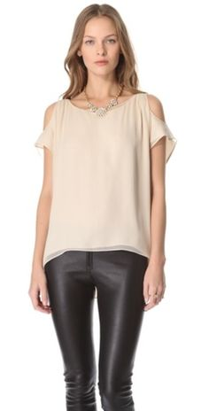 2558f05454497 AIR by alice + olivia Open Shoulder Short Sleeve Top... perfect for summer