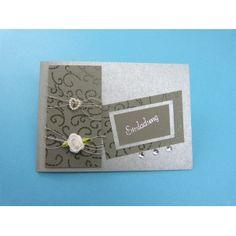 Zur Silberhochzeit |die Einladung Hochzeit Basteln Mit Tonkarton In Silber