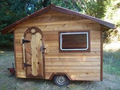 How To Build A Tiny House On Wheels - Living Green And Frugally. Great for summer or fall overnight guests