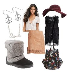 """Peace, Love and Marie"" by bearpawstyle on Polyvore featuring H&M, Sterling, Sydney Evan and Collection XIIX"