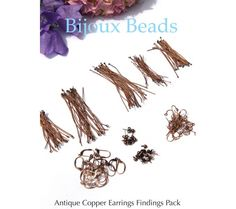 Antique Copper Earrings Findings Pack or Starter Pack