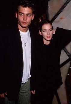 Winona Ryder & Johnny Depp, Circa 1990 - blazers and solid tshirts